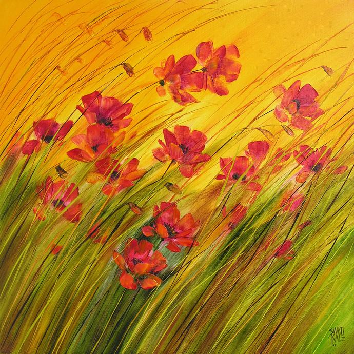 Wild Beauty Digital Print by Swati Kale,Impressionism
