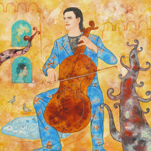 Cellist Digital Print by Abhisek Dey,Decorative