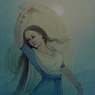 Moonlit Night Digital Print by Rajib Gain,Realism