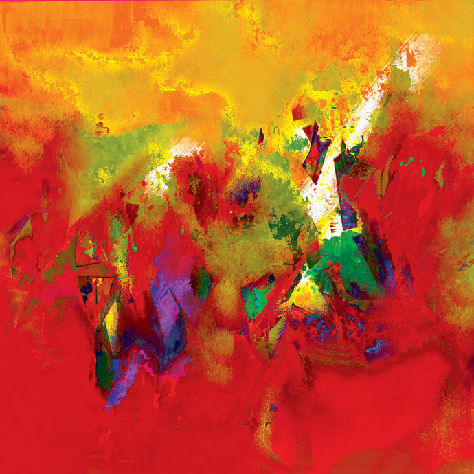 Untitled 605 Digital Print by Sunil Balkawade,Abstract