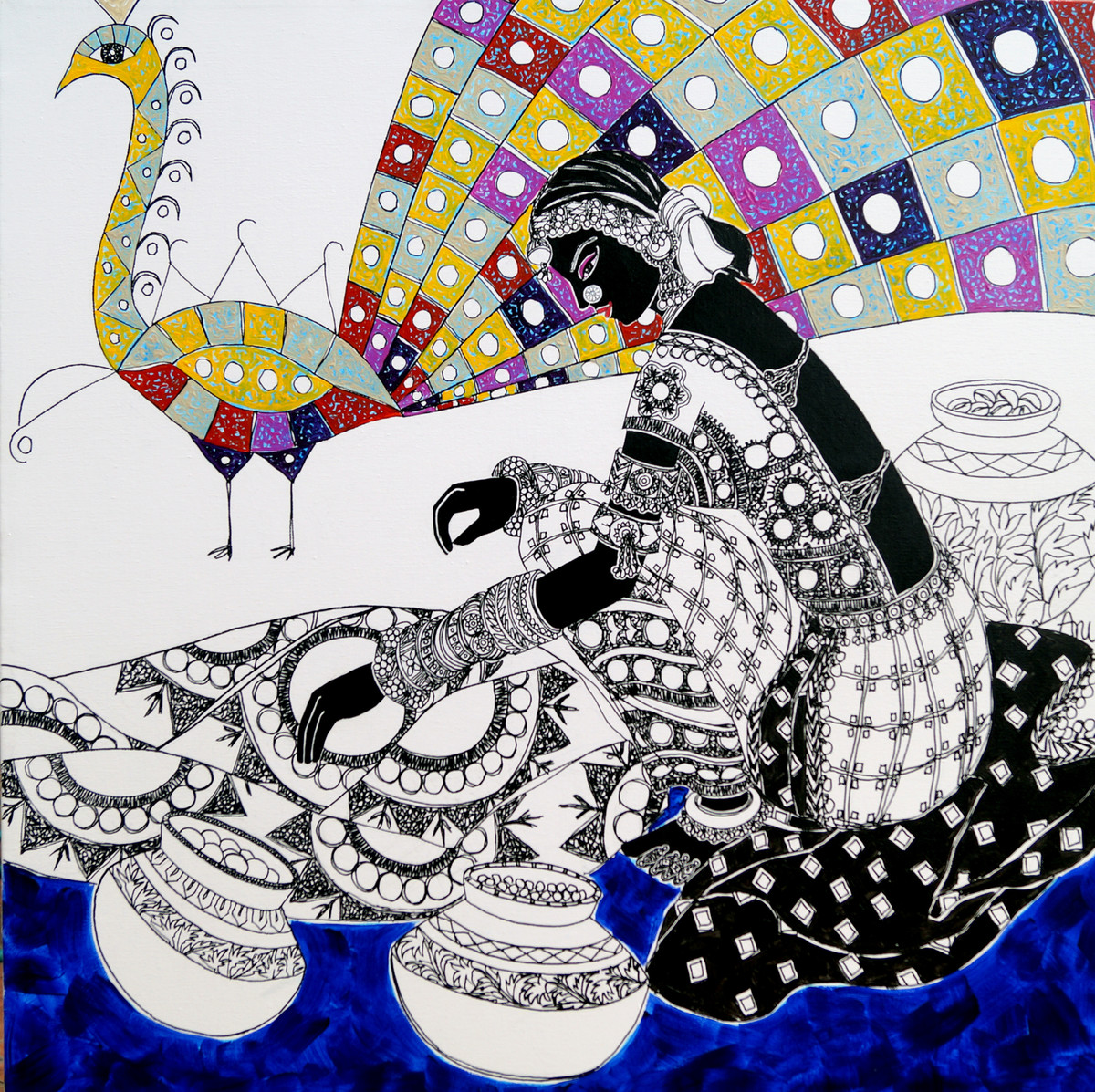 Ethnic Serendipity 55 by Anuradha Thakur, , , Gray color