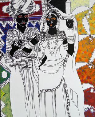 Ethnic Serendipity 7 Digital Print by Anuradha Thakur,Traditional