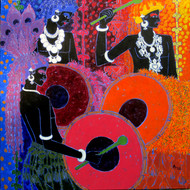 Festive Rhythm 42 Digital Print by Anuradha Thakur,Traditional