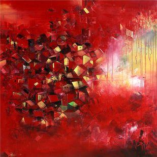 The Village of My Dreams 17 Digital Print by M Singh,Impressionism