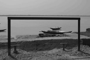 Frame by Debabrata Sarkar, Image Photography, Digital Print on Paper, Gray color
