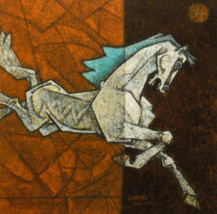 Charging Ahead in my Dreams 8 Print By Dinkar Jadhav