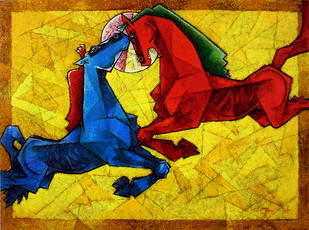 Waltzing our way to Happiness 8 Artwork By Dinkar Jadhav