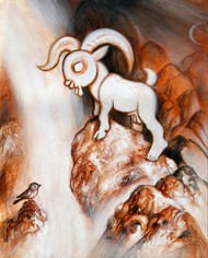 The Lamb of Innocence Digital Print by Satwant Singh,Conceptual