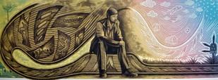 Unlimited Dreams by Rahul Dhiman, Pop Art Printmaking, Etching on Paper, Brown color