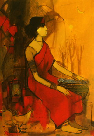 Flower Farm by Sachin Sagare, , , Brown color