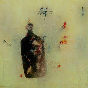 Untitled by Arvind Patel, Minimalism Painting, Acrylic on Canvas, Beige color