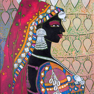 Serene Harmony 54 Digital Print by Anuradha Thakur,Traditional