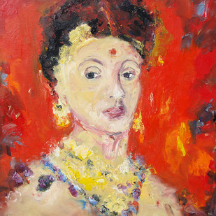 A Portrait Digital Print by Animesh Roy,Impressionism