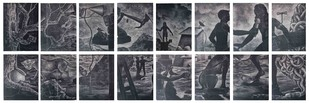 Untitled by Subrat Kumar Behera, Surrealism Printmaking, Lithography on Paper, Gray color