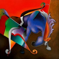 Achieve The Goal by Rajesh Shah, Decorative Painting, Acrylic on Canvas, Brown color