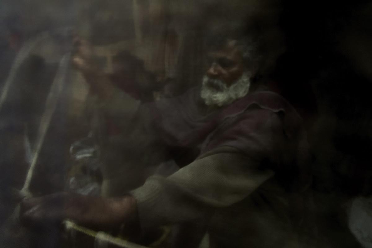 The Old Man by Joydeep Mukherjee, Image Photograph, Digital Print on Paper, Black color