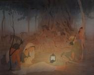 Refugee Digital Print by Rajib Gain,Realism
