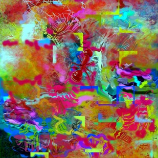 Painting III Digital Print by Ratnakar Ojha,Abstract