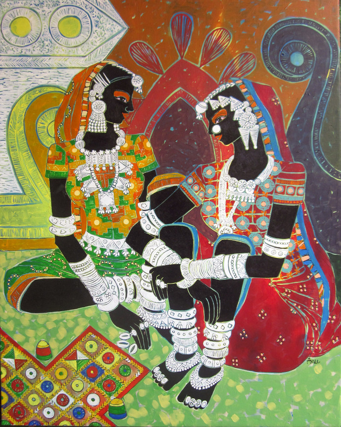 Serene Harmony 69 by Anuradha Thakur, , , Brown color