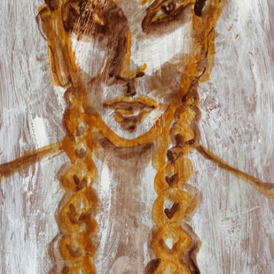 Untitled by P Shivani Bharadwaj, Impressionism Painting, Acrylic on Board, Brown color