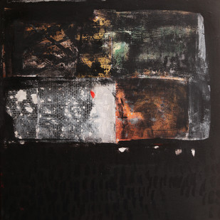 emotions and responses 6 by Aditya Sagar, Conceptual Painting, Mixed Media on Canvas, Gray color