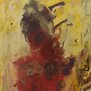 Self by Rashmi Khurana, Abstract Painting, Acrylic on Canvas, Brown color