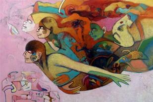 Flying for Dreams by Brajmohan Arya, , , Brown color