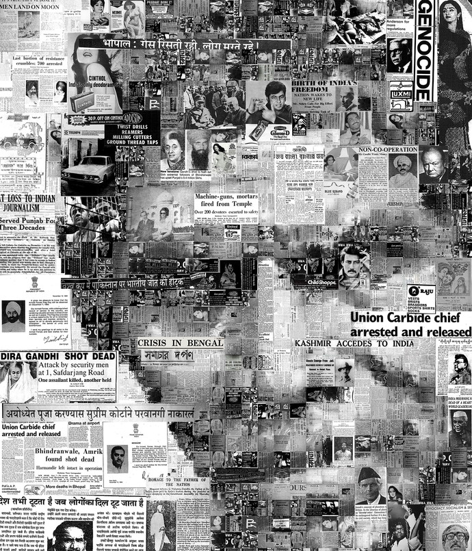 You are not in the News - 05 by Saptarshi Das, Conceptual Digital Art, Digital Print on Paper, Gray color