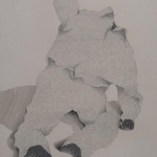 Maya 11 by Vrushaket Salaskar, Illustration Drawing, Charcoal on Paper, Brown color