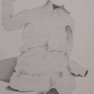 Maya12 by Vrushaket Salaskar, Illustration Drawing, Charcoal on Paper, Gray color