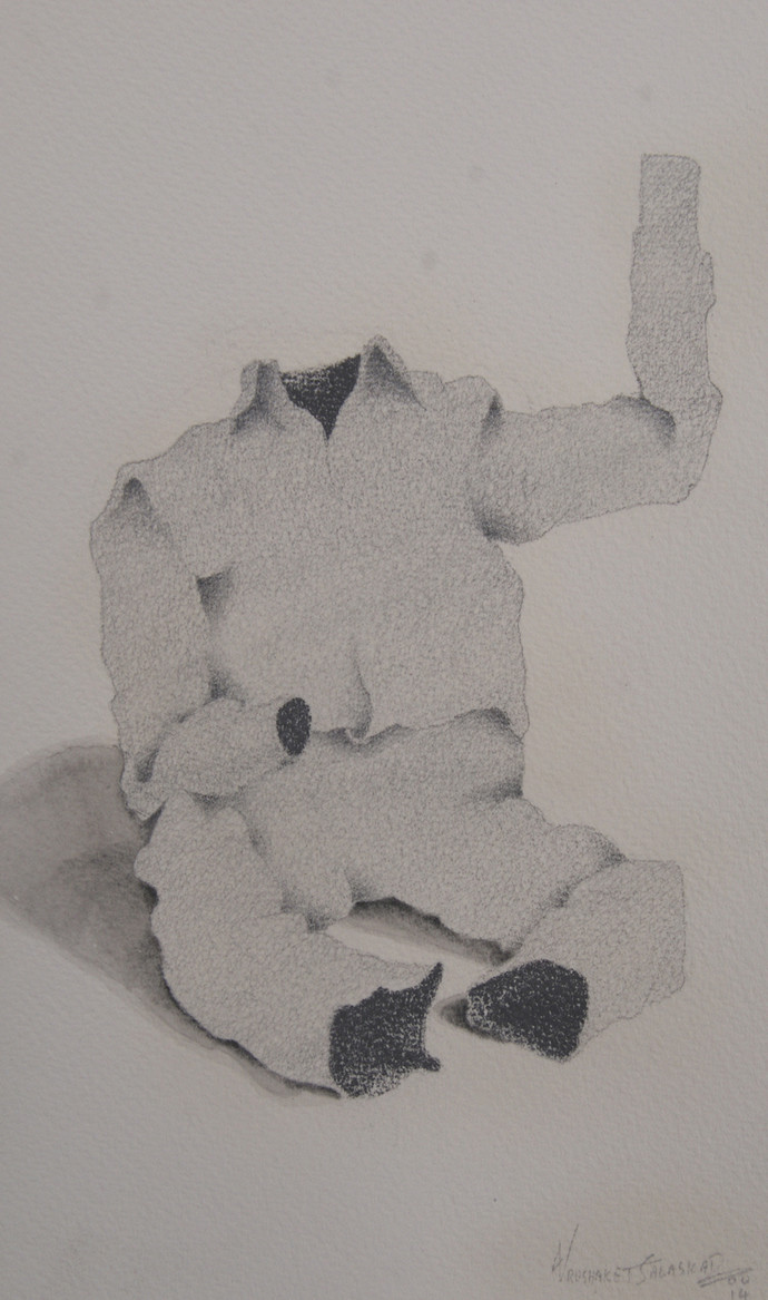 Maya13 by Vrushaket Salaskar, Illustration Drawing, Charcoal on Paper, Gray color