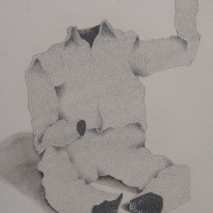 Maya13 by Vrushaket Salaskar, Illustration Drawing, Charcoal on Paper, Gray color