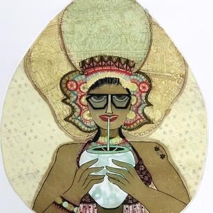 Desi Flavour by Sonal Varshneya, Illustration Printmaking, Etching on Paper, Beige color