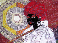 Serene Harmony 15 Digital Print by Anuradha Thakur,Traditional