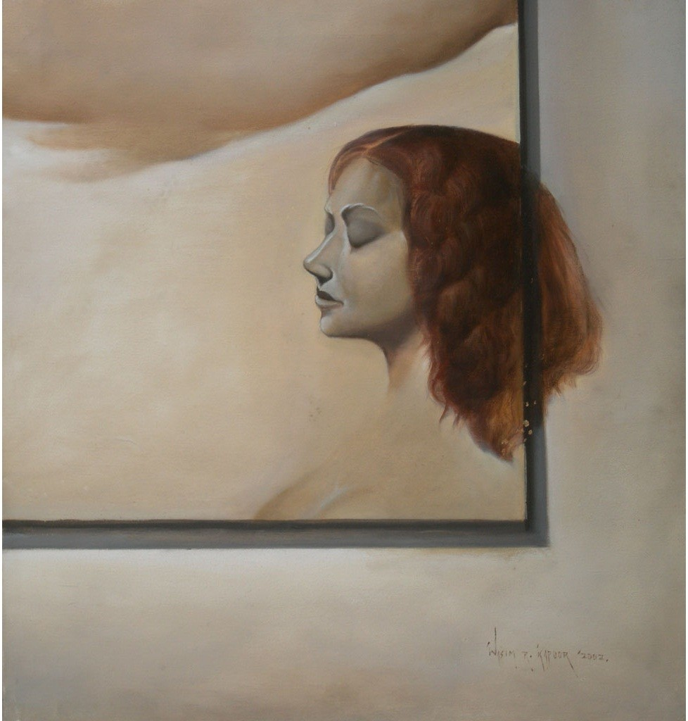 Untitled by Wasim R Kapoor, Realism Painting, Oil on Canvas, Brown color