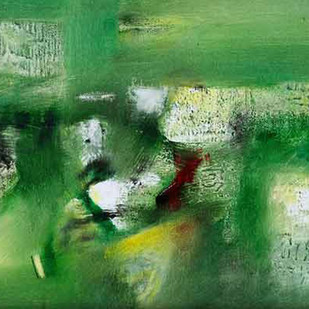 Green Abstract III by Harendra Shah, Abstract , Oil on Canvas, Green color
