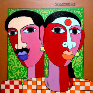 The Village Couple Digital Print by Naheem Rustum,Decorative