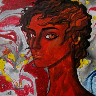 Passionate thoughts by Suruchi Jamkar, Decorative Painting, Oil & Acrylic on Canvas, Brown color
