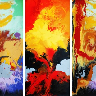 Expression 1 by Avtar Singh, Abstract Painting, Acrylic on Canvas, Brown color
