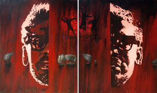 Ekti Nadir Naam by Timir Brahma, Conceptual Painting, Acrylic on Canvas, Brown color