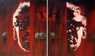 Ekti Nadir Naam by Timir Brahma, Conceptual Painting, Acrylic on Canvas, Brown color