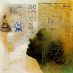 Space Between VII Digital Print by Guru kinkar ,Conceptual