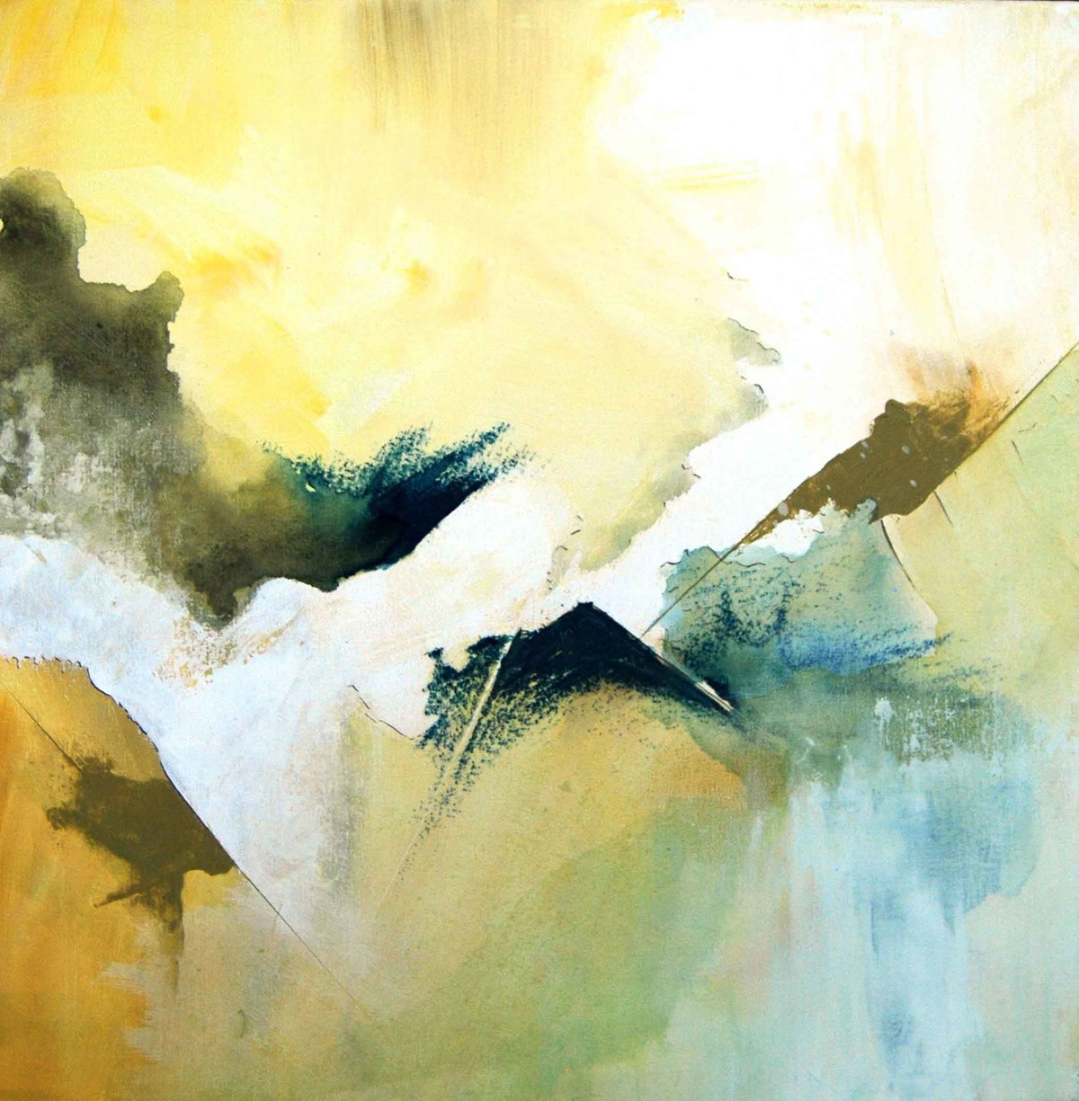 Ever Be by Tarini Ahuja, Abstract Painting, Acrylic on Canvas, Beige color