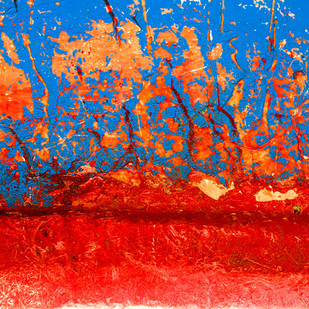 Abstract 06 by CR Shelare, Image Photograph, Digital Print on Canvas, Red color