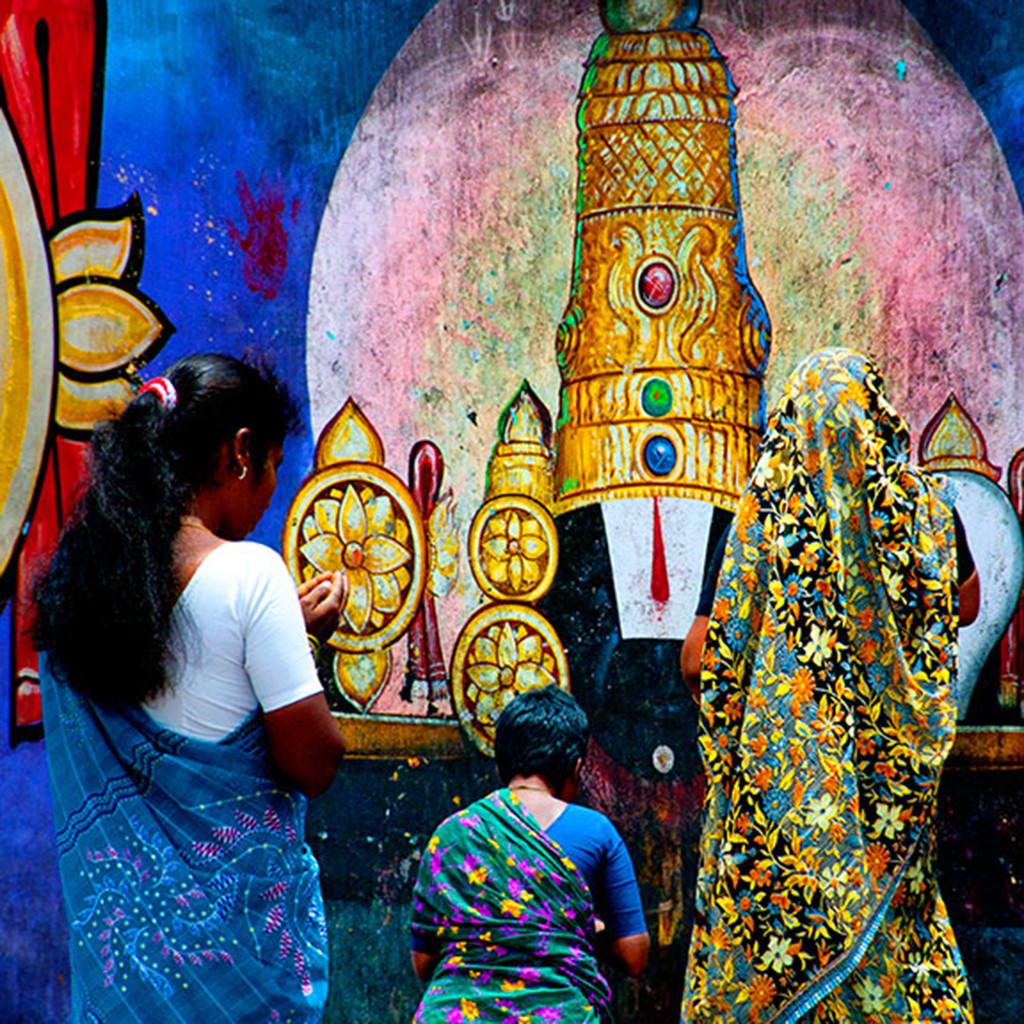 Faith by CR Shelare, Image Photograph, Digital Print on Canvas, Blue color