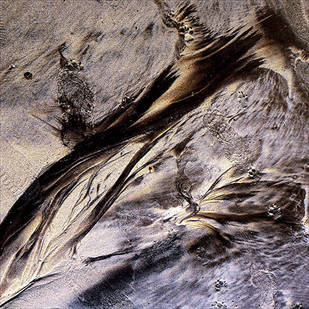 Sandscape 04 by CR Shelare, Image Photograph, Digital Print on Canvas, Brown color