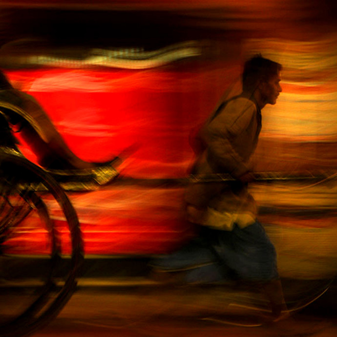 Inhumanity by CR Shelare, Image Photograph, Digital Print on Canvas, Brown color