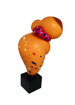 Change Your Shape Now by Jayanta Bhattacharya, Pop Art Sculpture, Fiber Glass, White color