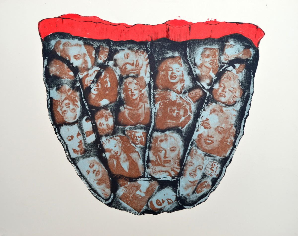 Untitled by Porika Ravi Kumar, Conceptual Printmaking, Lithography on Paper, Gray color
