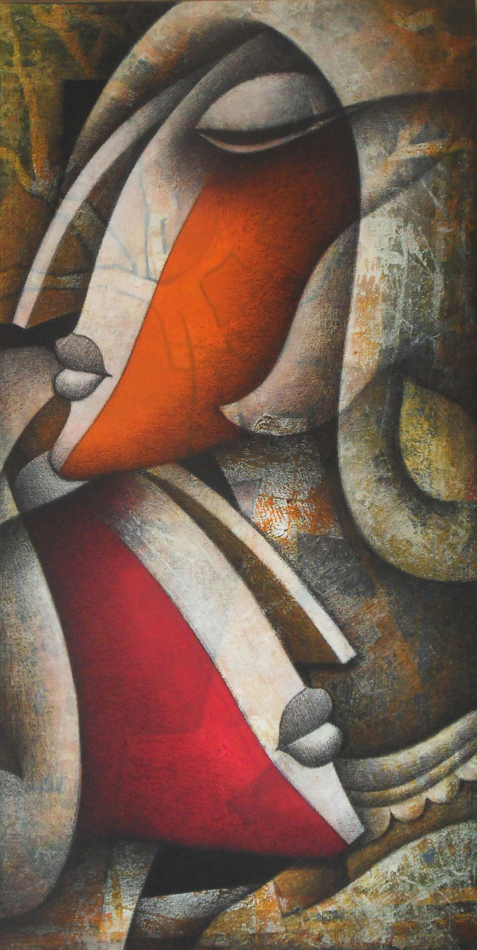 Untitled by Jagannath Paul, Decorative Painting, Mixed Media on Canvas, Brown color